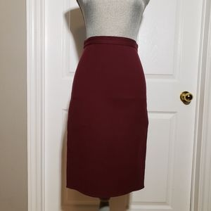 THEORY wool stretch pencil skirt